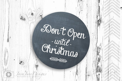 """""""Don't Open"""" Holiday Package Stickers"""
