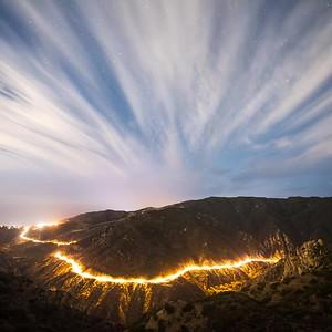 malibu canyon road cloud streaks