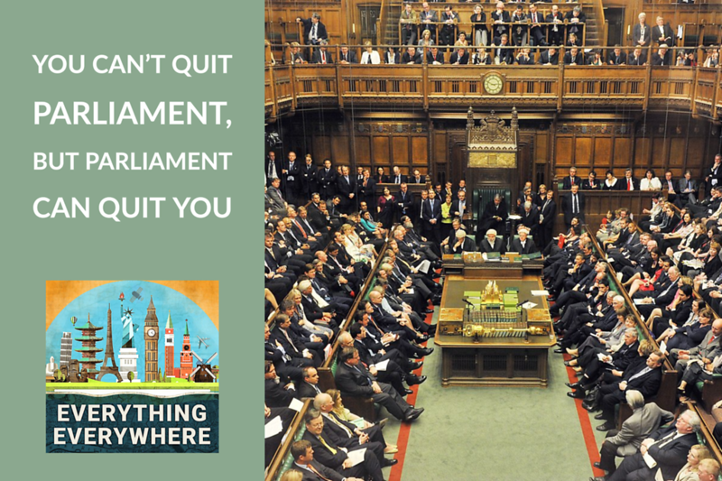Why You Can't Resign From the British Parliament