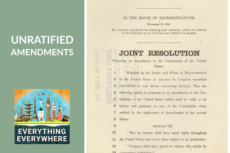 Unratified Constitutional Amendments