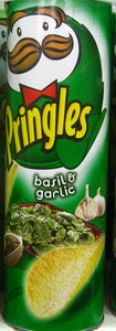 Basil & Garlic flavored Pringles from Malaysia   Courtesy of Dylan http://www.fantabulousness.com
