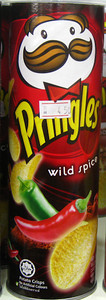 Wild Spice flavored Pringles from Malaysia   Courtesy of Dylan http://www.fantabulousness.com