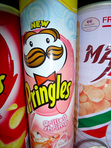 Grilled Shrimp flavored Pringles from Thailand   Courtesy of Ant and Elise http://positiveworldtravel.com/
