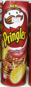 Smoky BBQ flavored Pringles from Malaysia   Courtesy of Dylan http://www.fantabulousness.com