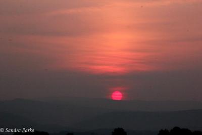 6-11-15: Sundown over the Alleghenies.