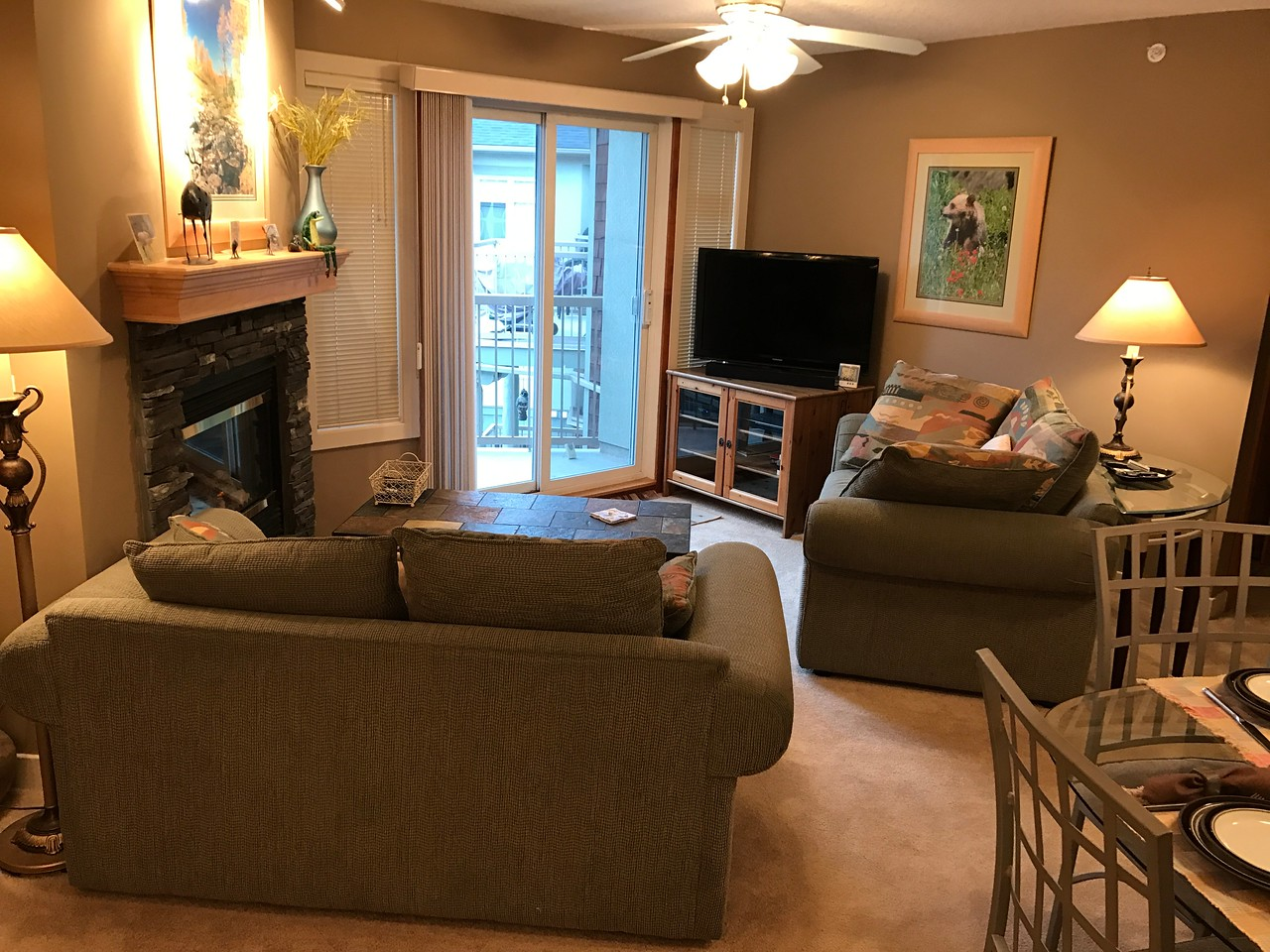 """The """"living room"""" area."""