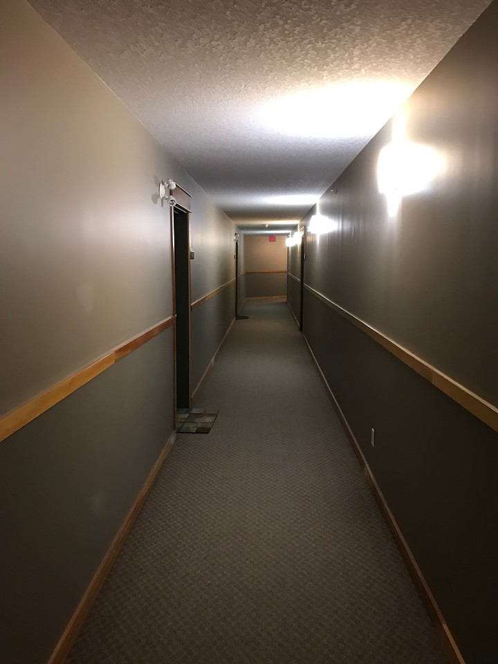 Follow the hallway around to the left.  Our unit is a bit of a walk from the elevator.