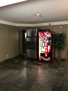 The ice machine is on the 2nd floor lobby.  NOTE - you will need your key to operate the elevator to get back upstairs.
