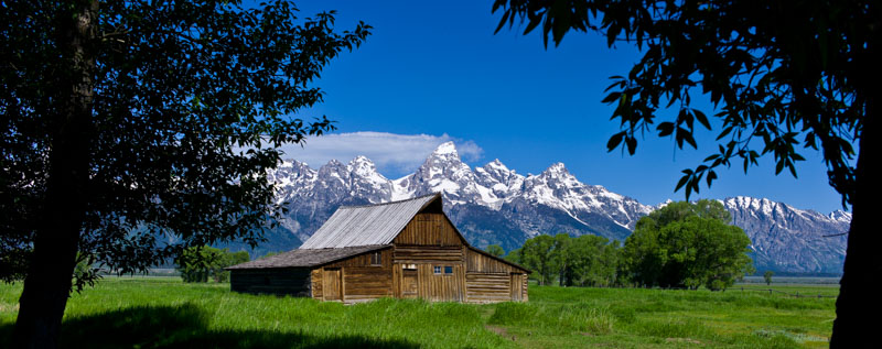 Moulton Barn Homestead, Grand Teton National Park, WY<br /> One of the most photographed barns in the US.