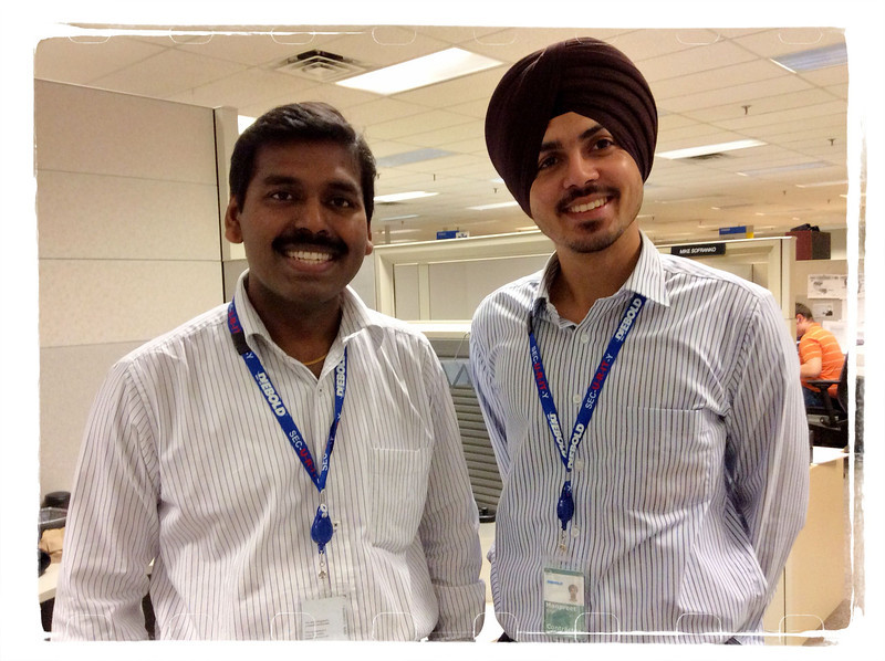 iPad Photo - Satish and Manpreet