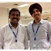 iPad Photo - Satish and Manpreet