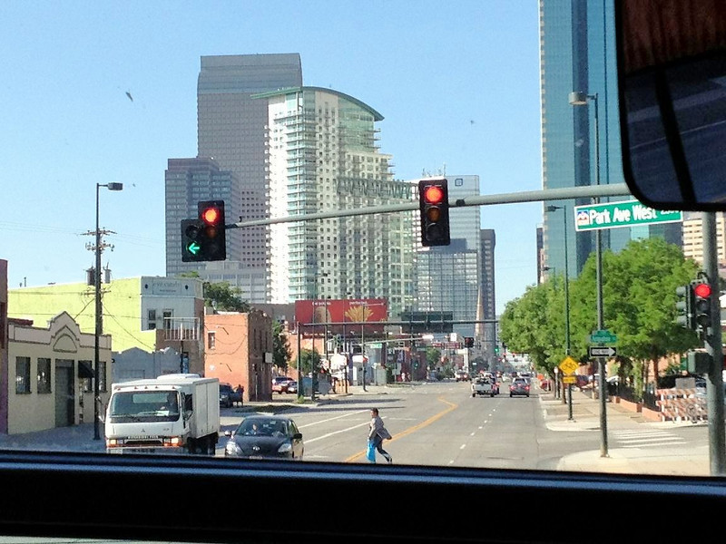 Denver from the bus.