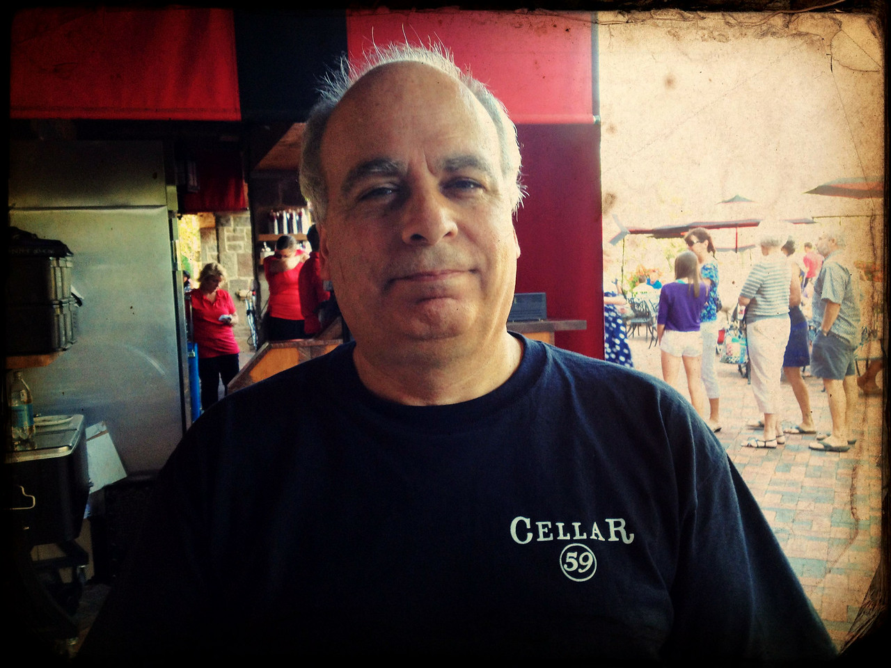 Harold at Gervasi Vineyard 8/2/2012.