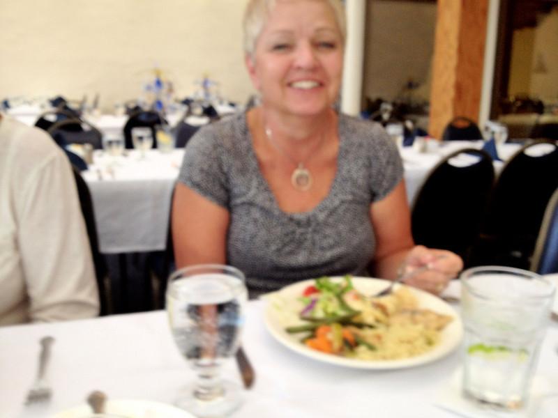 Linda at Joan's retirement.