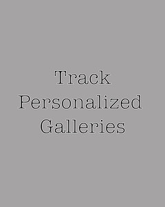Track personalized galleries