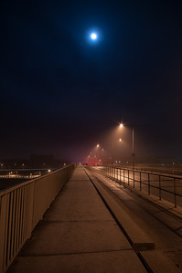 Moon over bridge