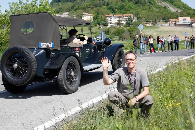 2012: bei der Mille Miglia, vor Radicofani