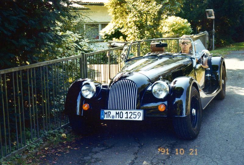 2012: Mister MO, die Nr. 3. Morgan Plus 4 Neuwagen, bis auf ein paar Anfangsprobleme ab Werk, alles ok. <br /> Na ja, eben ein Engländer....