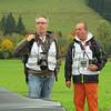 2015 - Jochpass, mit Kollege Klaus beim Sichten der ersten Oldtimer-Starts