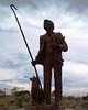 Sheepherder statute at Albuquerque Art Museum in Albuquerque, NM