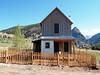 Board and batten house in Creede America neighborhood, Creede, CO
