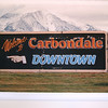 2010-07-31 - Painting of Welcome to Carbondale Sign