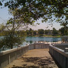 2010-06-24 - The wood bridge at the North Lake in Woodbridge Village, Irvine, CA, USA