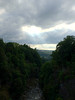 2012-08-29 - Fall Creek looking west from the suspension bridge at Cornell University, Ithaca, NY, USA