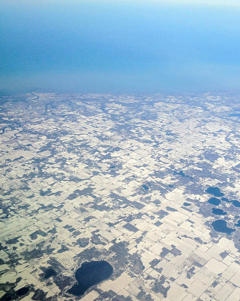 2012-01-05 - Somewhere over Michigan with Lake Michigan in the background, USA