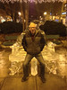 2012-12-08 - Pike on ice throne at Ithaca Commons