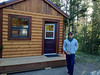 2012-06-28 - Paul Oliver in front of the cabin at Flagg Ranch just south of Yellowstone National Park