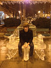 2012-12-08 - Paul on ice throne at Ithaca Common