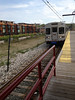 2012-04-20 - Cleveland RTA train with new housing in the background