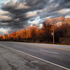2013-11-09 - Late afternoon sun on a highway near Swayer, MI, USA