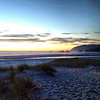 2013-08-22 - Looking north at dusk from Cannon Beach, OR, USA