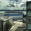 2013-08-24 - Cruise ship departing under clouds, Seattle, WA, USA