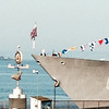 2014-08-03 - 1950 Alaskan Way, #237 - Raising the flag on the USS Howard