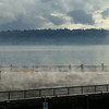 2014-08-31 - Steam Coming Off Seattle's Pier 62-63 After a Rain