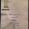 2014-02-01 - Seattle Chamber Music - Schitzke Program