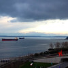2014-02-07 - Calder, grain ships, Olympics and clouds in Seattle