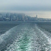 2014-01-18 - Ferry boat wake and downtown Seattle in a fog bank