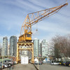 2014-04-10 - A shipyard crane remains on Granville Island in the midst of gentrification - Vancouver, BC, Canada