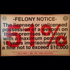 2014-11-20 - Texas Firearms Felony Notice