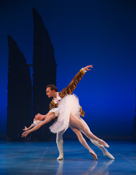 The young Prince falls in love with the White Swan.
