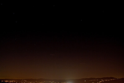 Left streak is the ISS.  Right streak is an airplane.