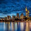 Frankfurt skyline at dusk