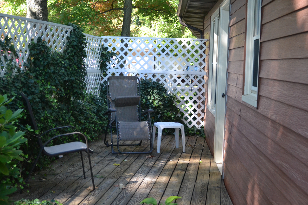 Secluded patio located outside of the master bedroom.