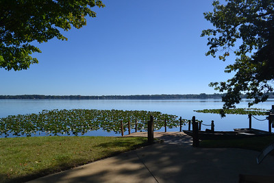 Lakeside view from the front patio or hot tub room - enjoy relaxing in the mornings while watching the sunrise.