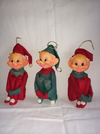 e14 nose upturned elf sitting set of 3