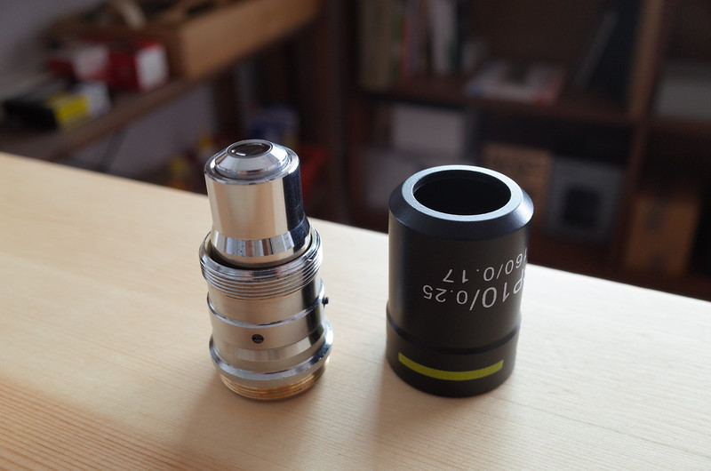 10x semi plan achromat microscope objective casing